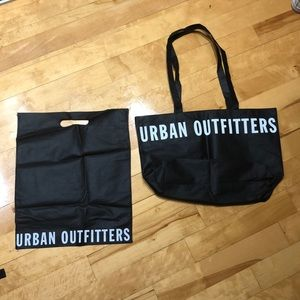 Two Black Urban Outfitters Tote Bags